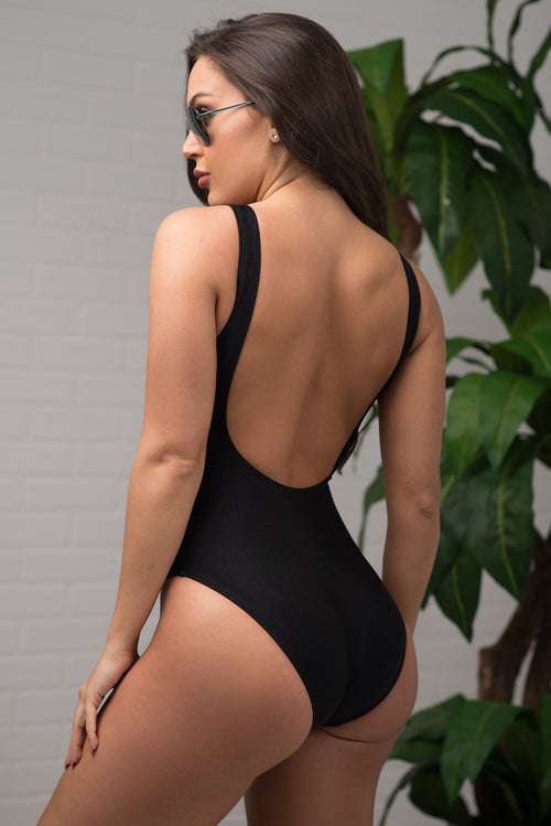 Birthday Suit One Piece Swimsuit - Black