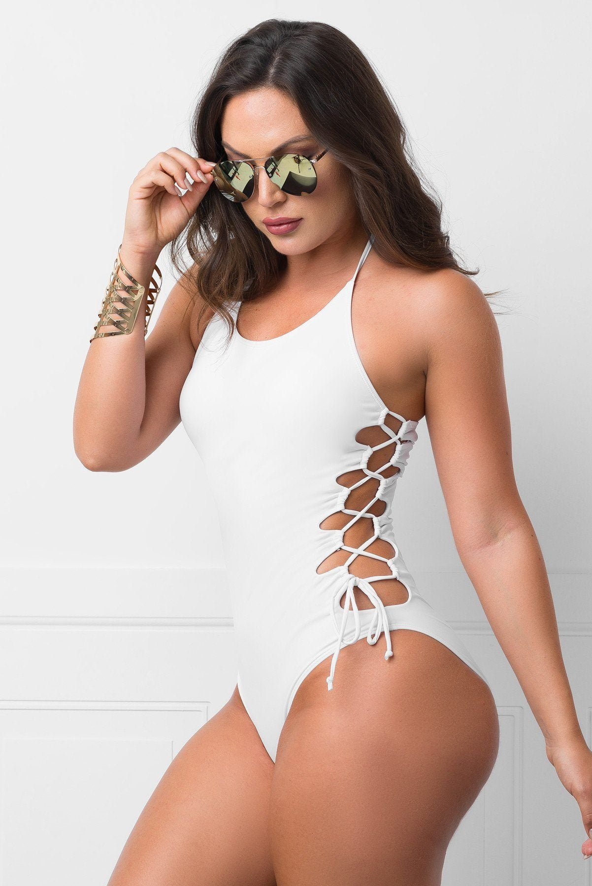 Santa Monica One Piece Swimsuit- White