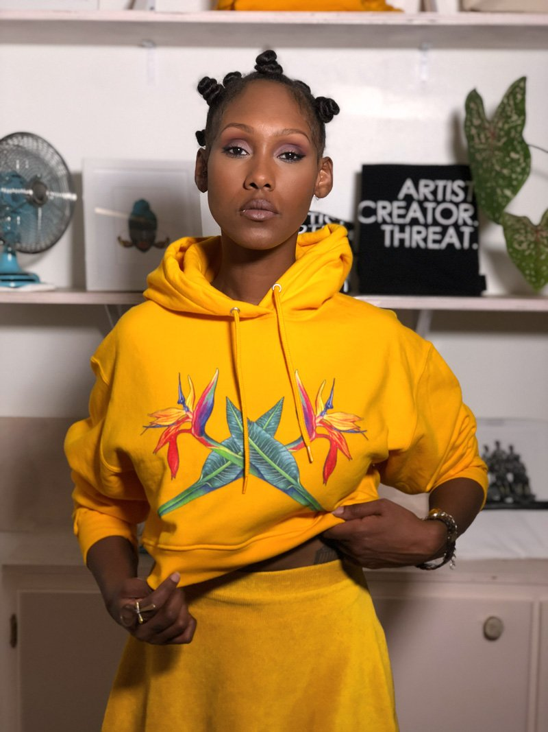 Bird of Paradise Cropped Hoodie