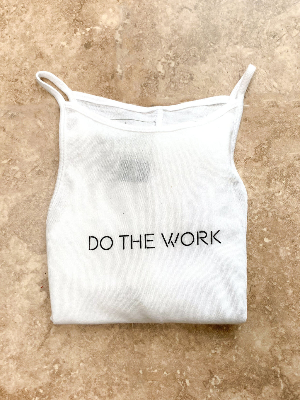 Do The Work Tank Top - White