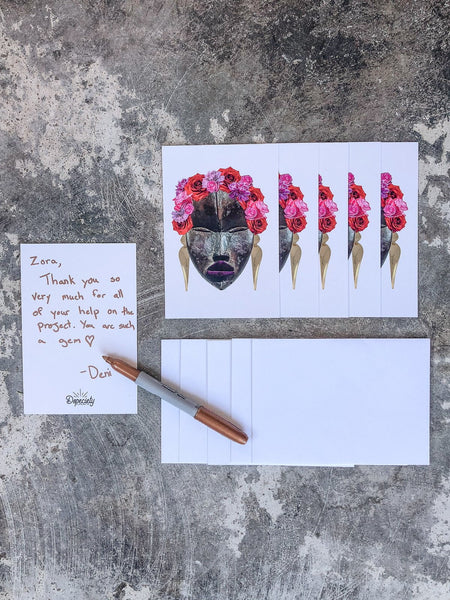 Note Card Pack with Envelopes - Frida's Flowers