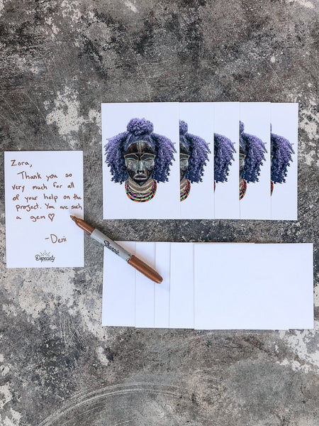 Note Card Pack with Envelopes - Michela