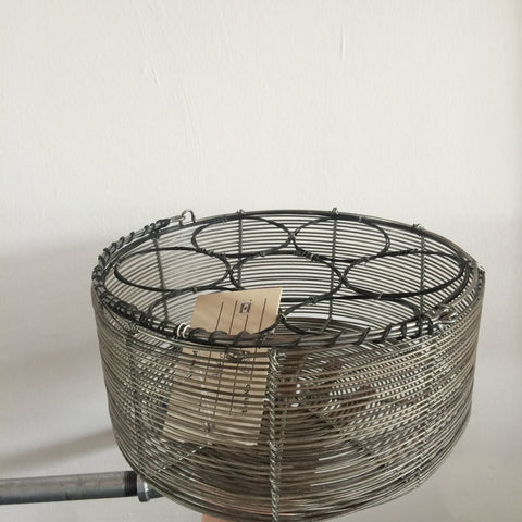 Round Wire Milk Bottle Basket
