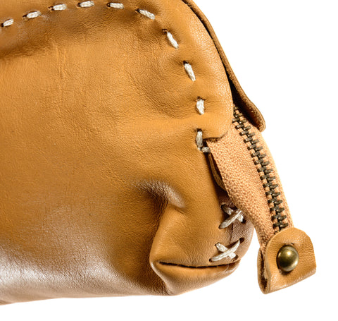 Accessory Bag in Tan Leather