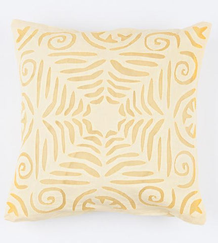 Yellow 16x16 Applique Pillow Cover
