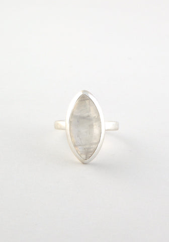 Pointed ellipse ring