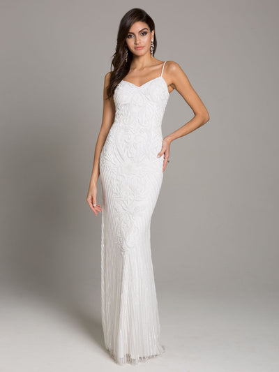 SMC51005 - Sleek Beaded Evening Gown