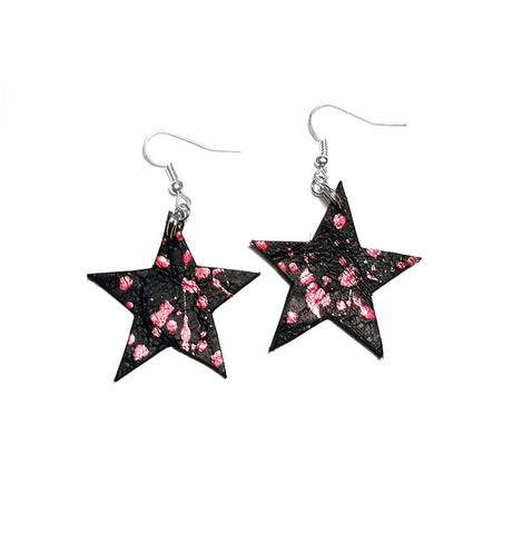 Chilymint leather star earrings