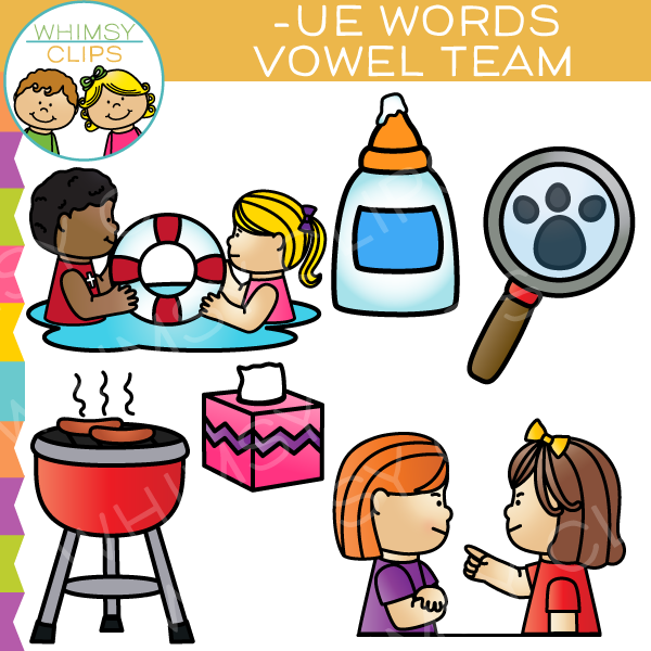 Vowel Teams Clip Art -UE Words