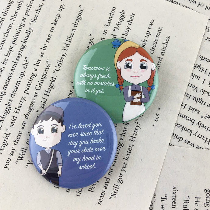 Anne of Green Gables Buttons