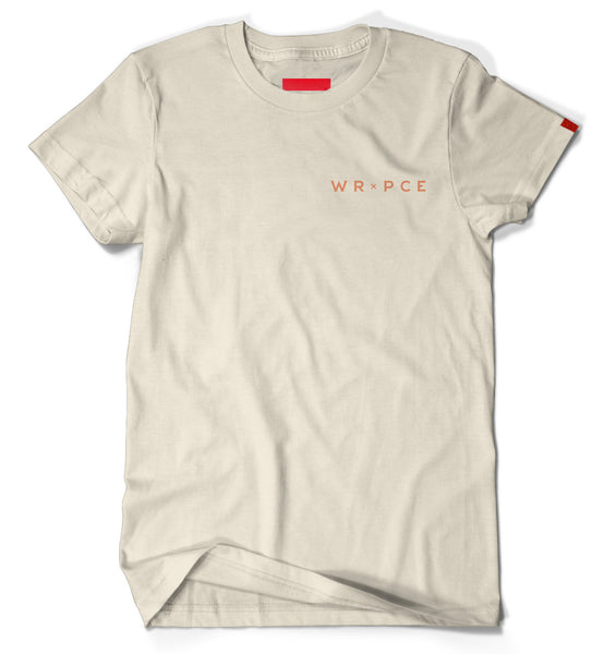 Warren Peace - School of the Gifted Graphic T-Shirt in Sand Cover - Designer Streetwear