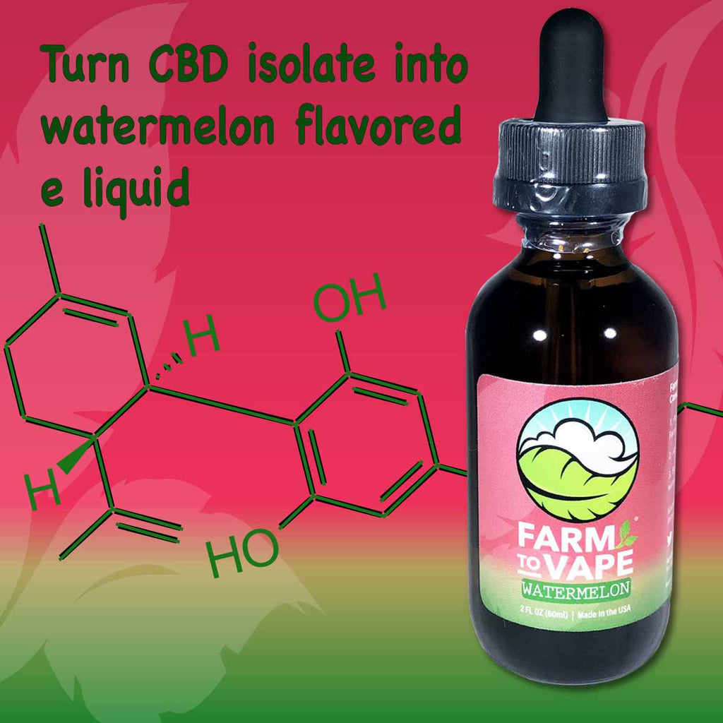 How to turn CBD isolate into watermelon flavoured eliquid