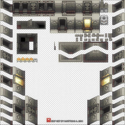 2D Environment - 2D Pixel Dungeon Level Chip Set 01