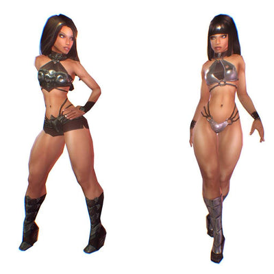 Character - Aleysha Low Poly Female Heroine