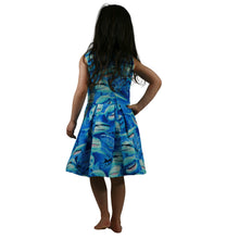 Load image into Gallery viewer, shark dress, zip back sharks dress, baby shark dress, fancy shark dress for girls and toddlers