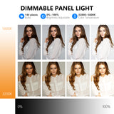 Neewer Super Slim Dimmable Bi-color LED Video Light Kit with LCD Display - neewer.com