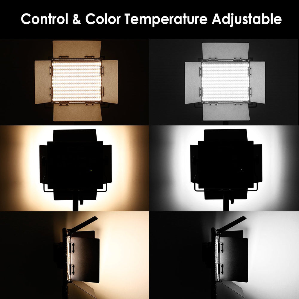 Neewer 3-Pack Dimmable Bi-color 660 LED Video Light, Stand and Battery Kit - neewer.com