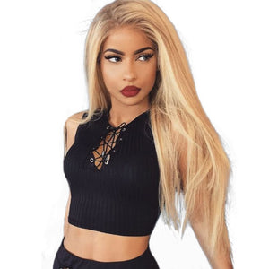 Honey Blonde 250% Density Lace Front Human Hair Wigs #27 Brazilian Straight