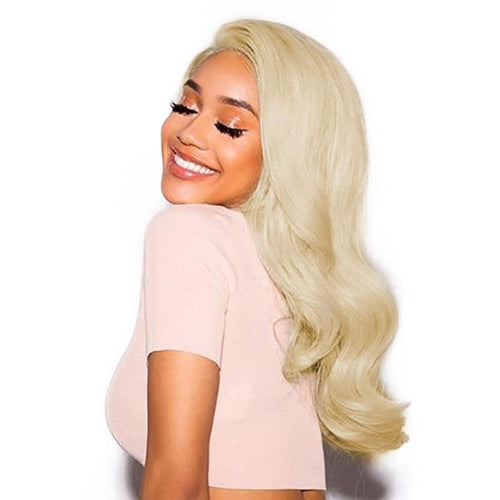 613 Blonde Lace Front Pre Plucked Brazilian Body Wave 360 Lace Frontal