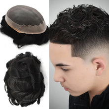 Load image into Gallery viewer, Durable Remy Lace PU Men Wig Hair System