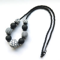 Odyssey statement black and white necklace