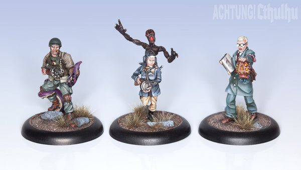 Achtung! Cthulhu Miniatures - Allied Investigators - Pack 1