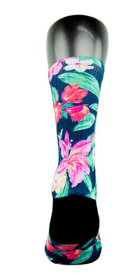 Hawaiian Floral CES Custom Socks - CustomizeEliteSocks.com - 4