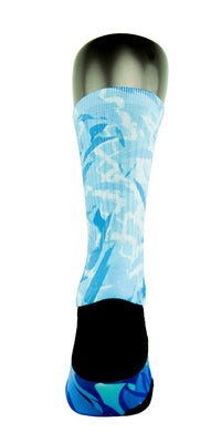 Icy Blue CES Custom Socks - CustomizeEliteSocks.com - 4