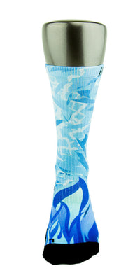 Icy Blue CES Custom Socks - CustomizeEliteSocks.com - 2