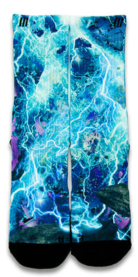 Lightning Blast CES Custom Socks - CustomizeEliteSocks.com - 1