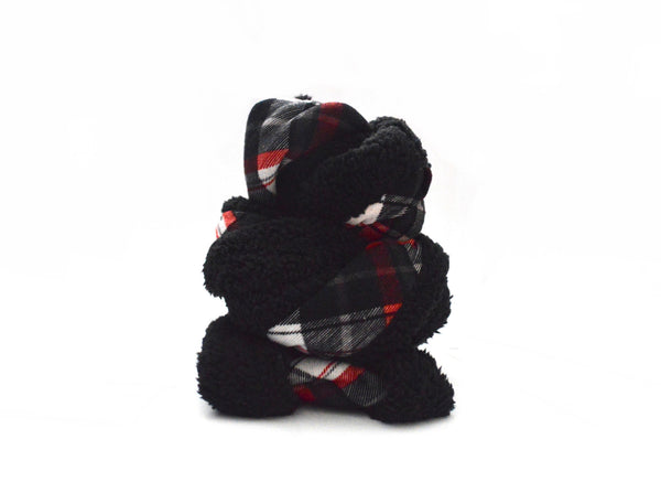 Black and Red Infinity Vegan Scarf