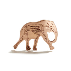 Elephant Pendant Engraved | Skeleton