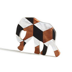 Elephant Pendant Inlay | Cube