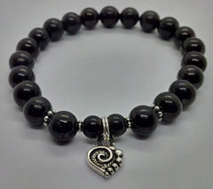 Cleansing ~ Russian Shungite ~ Stretch Bracelet