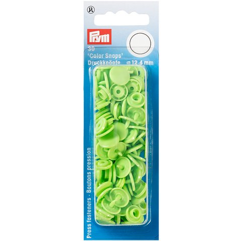 Prym Colour Snaps - Apple Green - Packs of 30