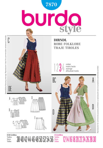BD7870 Dirndl Dress