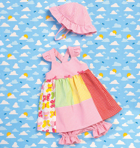 K0168 Babies Dress, Panties & Hat