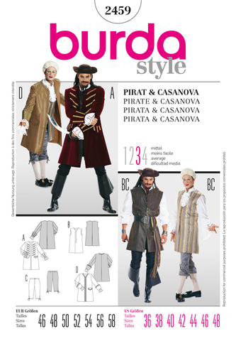 BD2459 Mens' Pirate & Casanova Costume