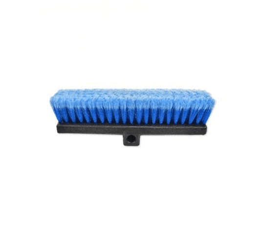 Blue Car Wash Brush Head W/Flow Thru, Bi Level, Feather Tip Bristles 13 Inch