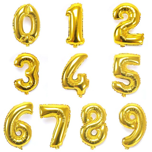 Gold Letter Balloons - Any Custom Phrase 16 Inch Alphabet Letters & Numbers Foil Mylar Balloon