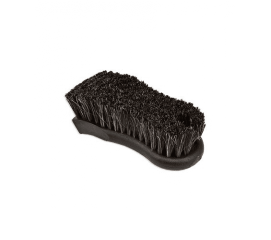 Black Block Brush W/Dark Brown Horse Hair Bristles 2.5 Inch x 6 Inch, 1.25 Inch Bristles