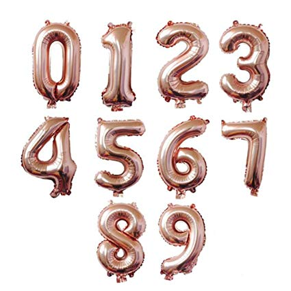 Rose Gold Letter Balloons - Any Custom Phrase 16 Inch Alphabet Letters & Numbers Foil Mylar Balloon