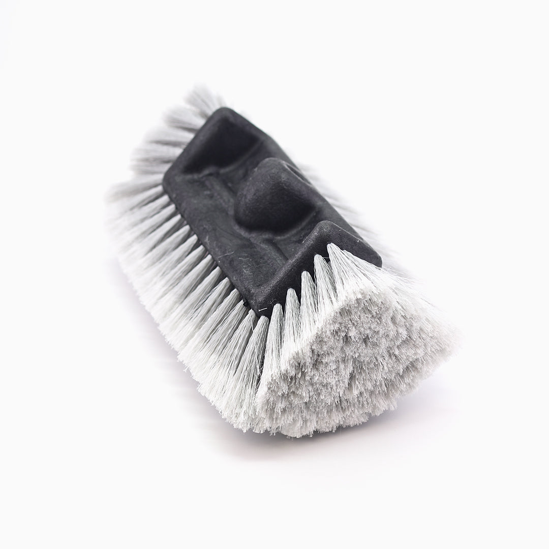 Grey Brush Head W/Flow Thru, Quad Level, Feather-Tip Bristles 11 Inch