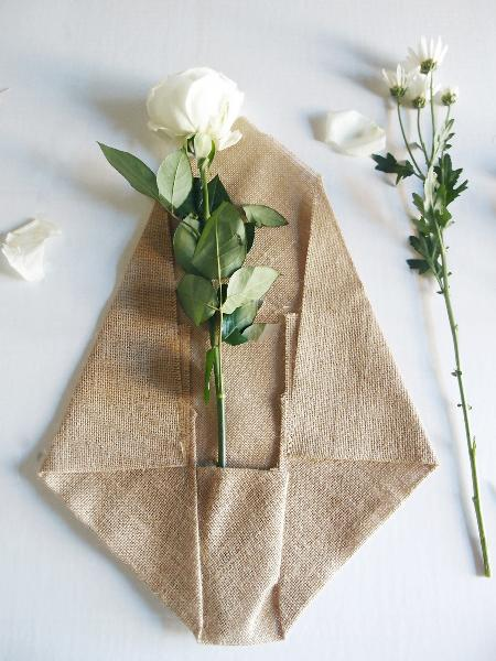 Natural Jute Floral Wrap with Pocket 14 Inch x 20 3/4 Inch