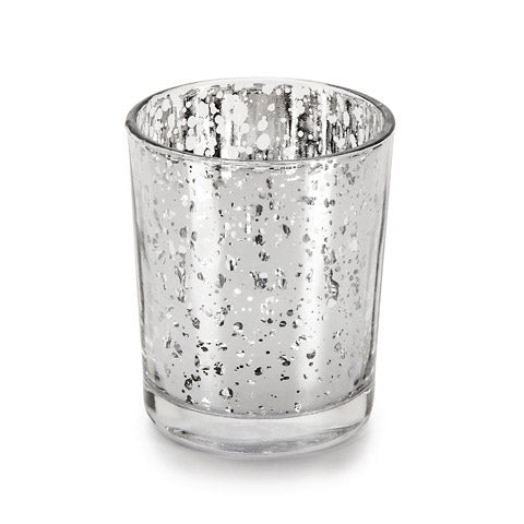 David Tutera Glass Votives - Silver Spot Plating - 1 Piece