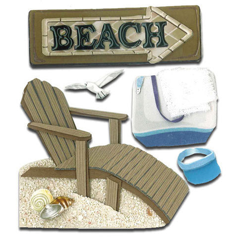 Jolee's Boutique Dimensional Stickers - Beach House