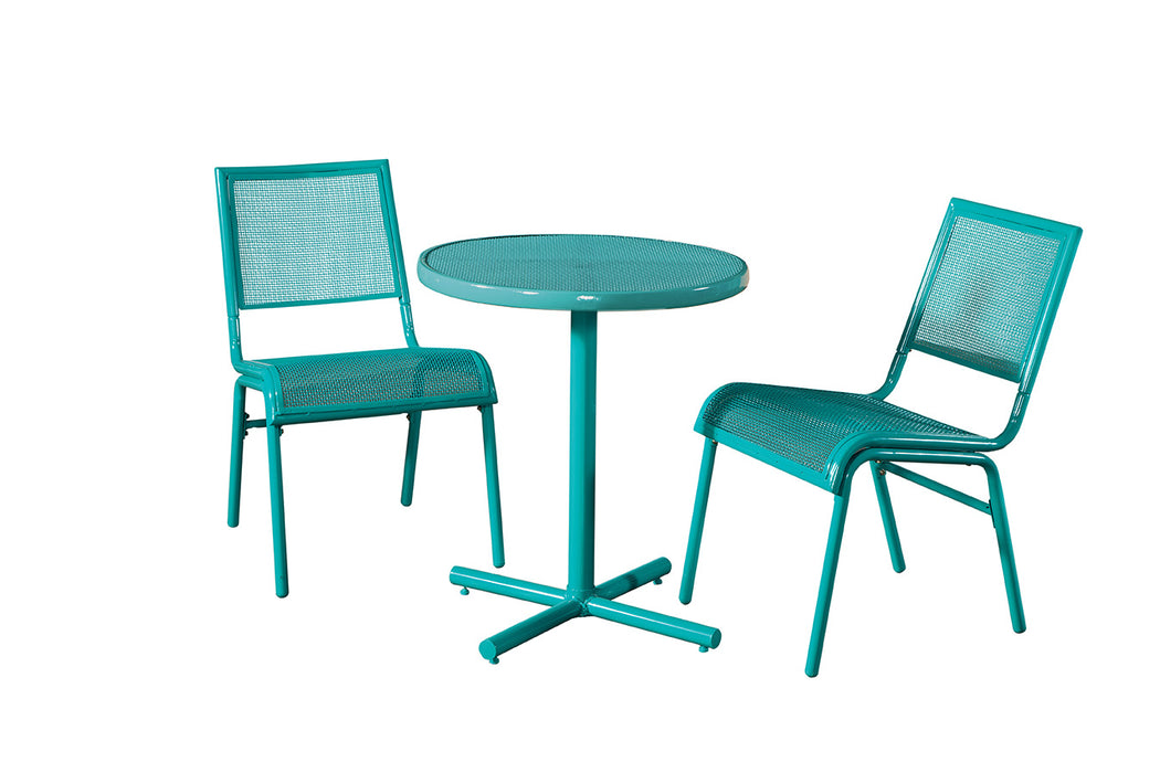 Bixby 3 Piece Bistro Set, Blue