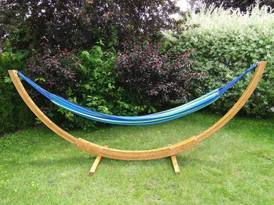 Hammock Universe Hammocks with Stands Red Orange and Yellow Stripes Brazilian Style Double Hammock with Bamboo Stand