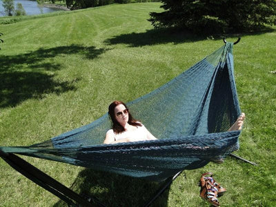 Hammock Universe Hammocks with Stands Forest Green XL Thick Cord Mayan Hammock with Universal Stand