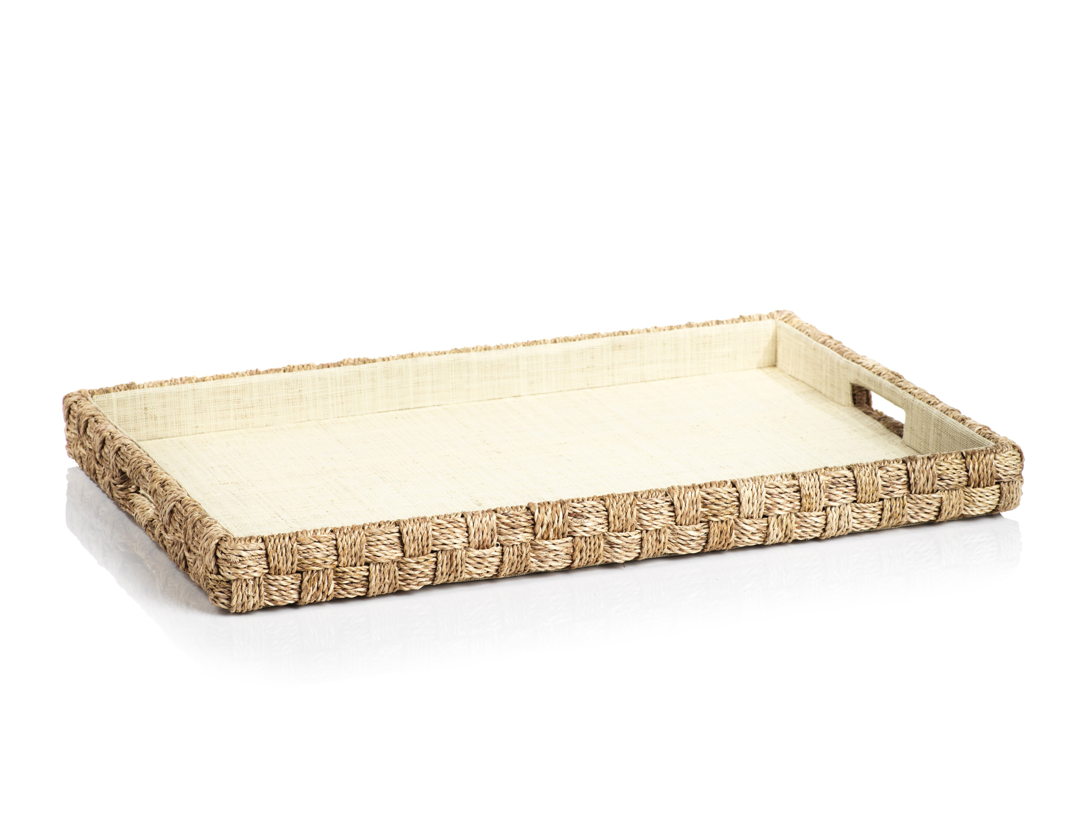 Abaca Rope Serving Tray - CARLYLE AVENUE